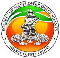 The Mayflower Society of California - Orange County Colony